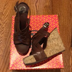 3a10854090e6 Tory Burch Shoes - Tory Burch Ace wedge sandals